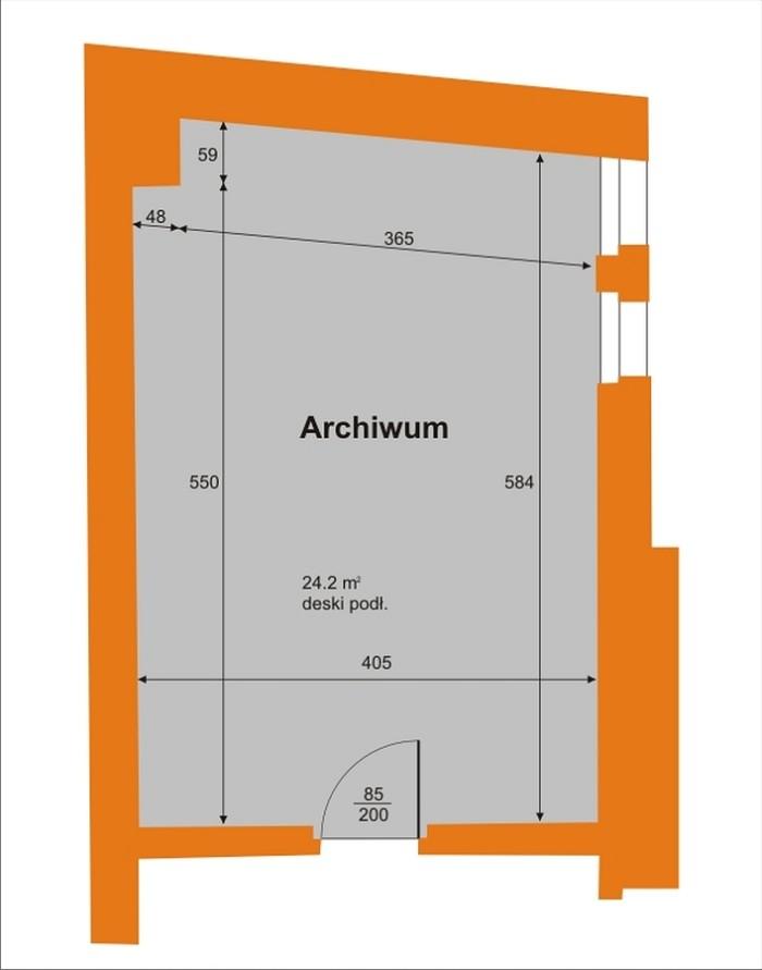 Wozownia - salka archiwum