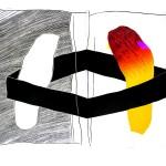 Lutomski Zbigniew, Pożegnanie 1/2, linoryt, 100x70, 2012